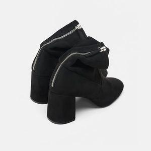 Zara Shoes - ZARA HIGH-HEEL ANKLE BOOTS WITH ZIP SZ 6